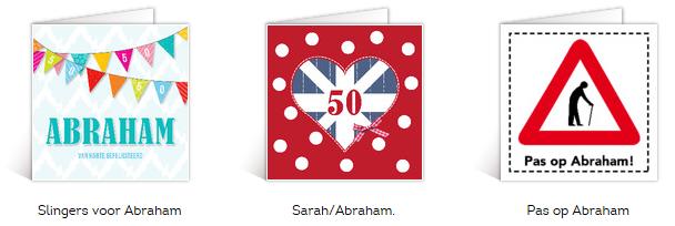 Tekst kaartje Abraham 50 jaar, Abraham teksten