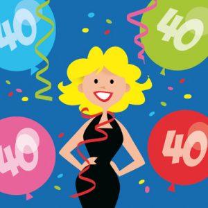 tekst verjaardag vrouw 40 jaar
