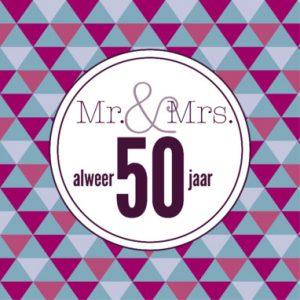 Tekst kaartje 50 jaar getrouwd