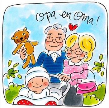 Kaartje opa en oma worden