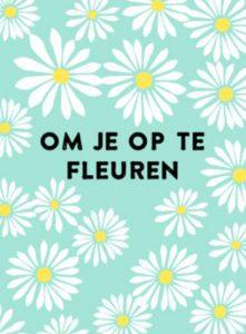 Om je op te fleuren